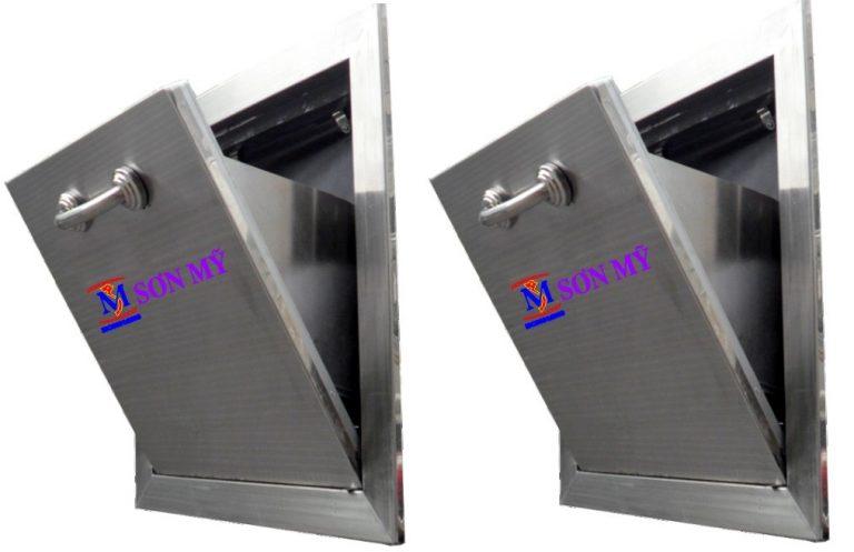 cửa thu rác inox