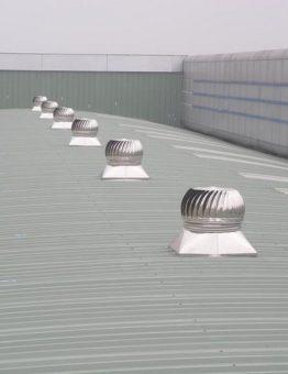 quả cầu thông gió lắp đặt nhà xưởng