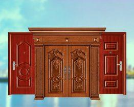 Bố trí không gian phù hợp cho cửa chống cháy vân gỗ hai cánh