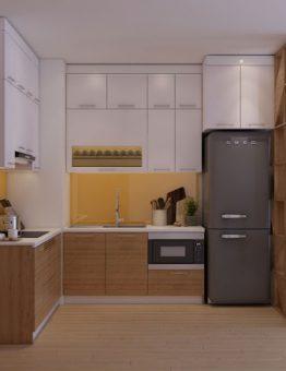 Tủ bếp inox 304 cánh Malamine