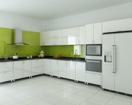 Tủ bếp inox 201 cánh acrylic