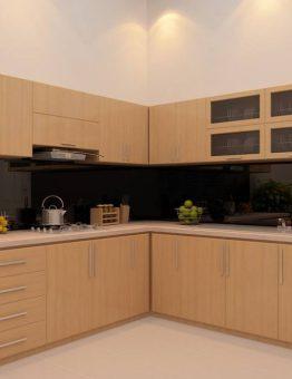 tủ bếp inox 201 cánh gỗ xoan đào