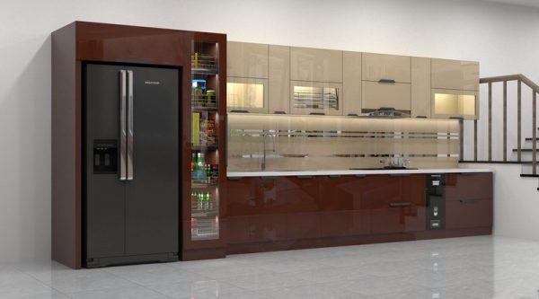 Tủ bếp inox 201 cánh kính
